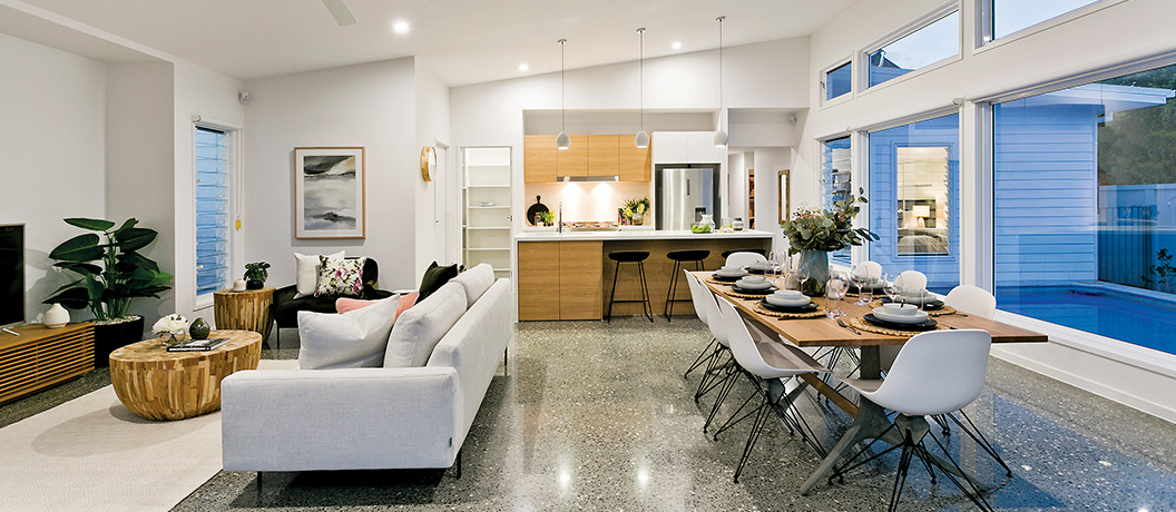 Surf Life Saving Lotteries - Draw 186 - Prize home living room and dinning