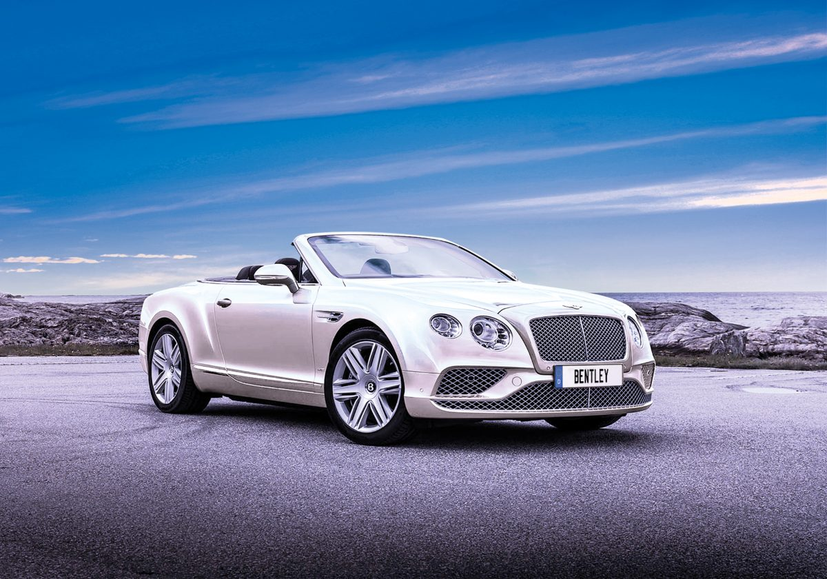 Bentley convertible - win this prize option.