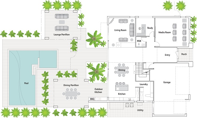 Floorplan of Mater Prize Home Christmas draw home