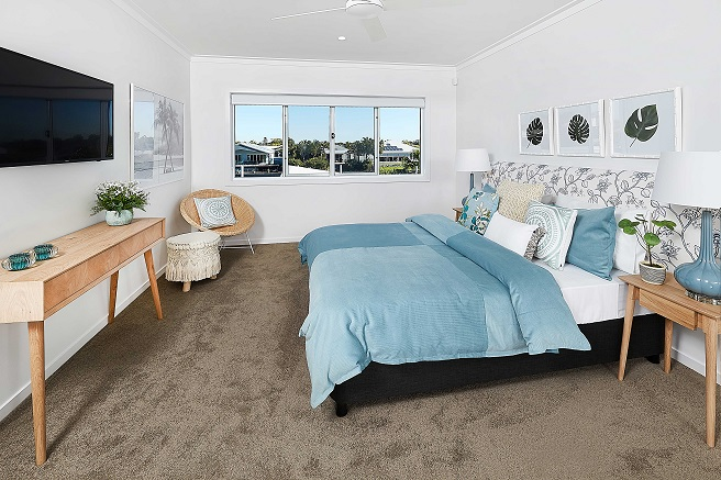 Master bedroom of Mater Prize Home - Christmas draw.