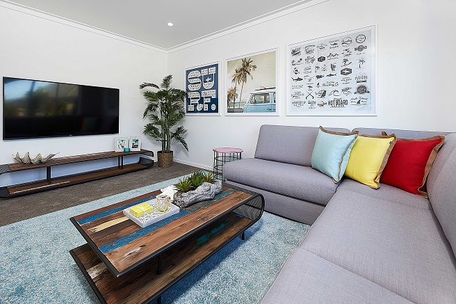 Lounge room with large TV