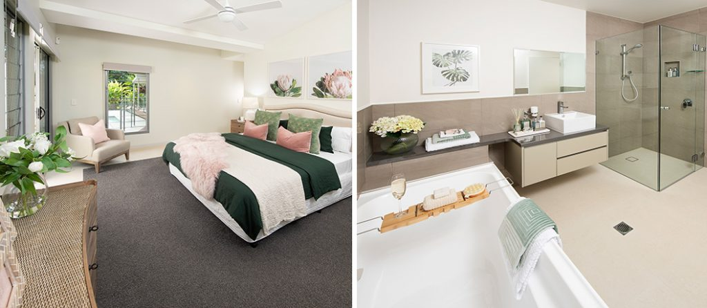 Luxury master suite with ensuite and retreat.