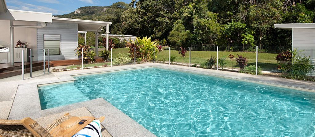 Relax poolside with sun loungers and alfresco patio.