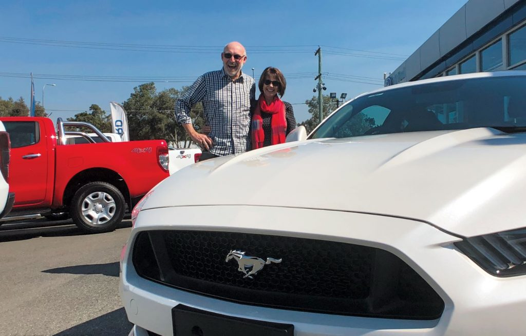 Star Supporter draw 415 winner with Ford Mustang GT