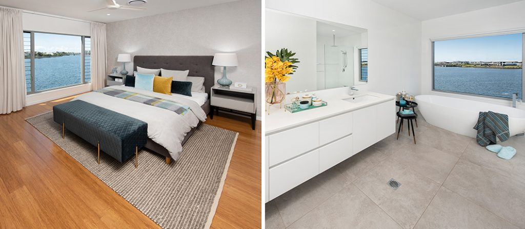 Spacious master bedroom and ensuite with bath and shower