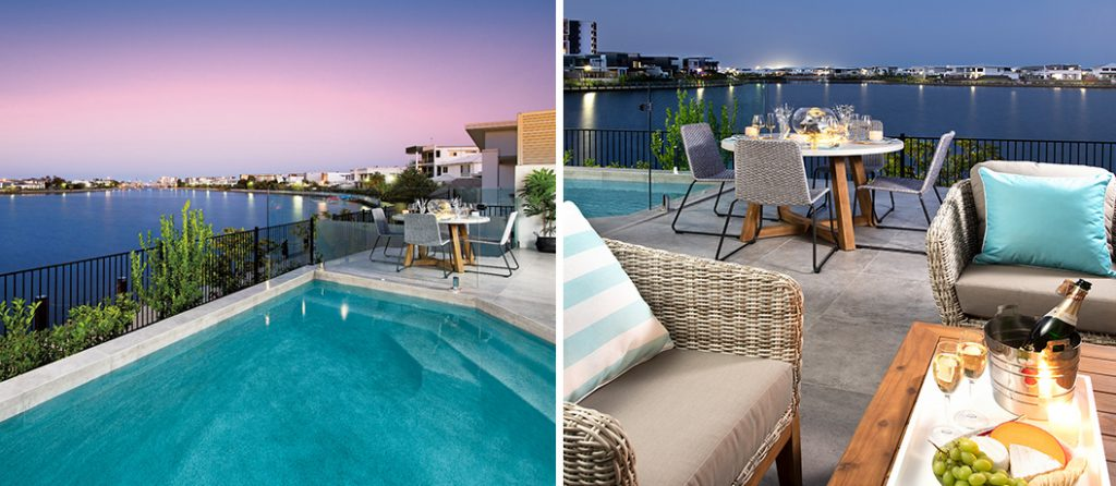 Beautiful sunsets from the pool and alfresco area.