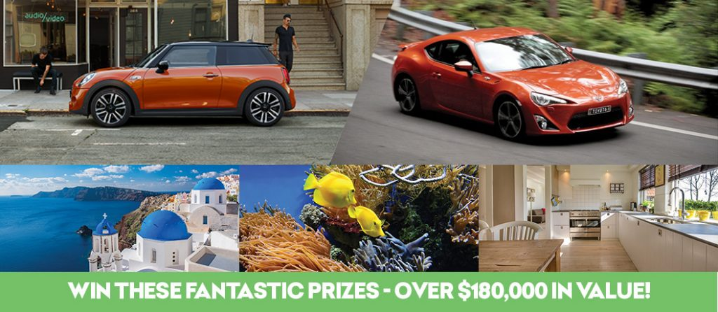 Win a car, holiday, gold and more!