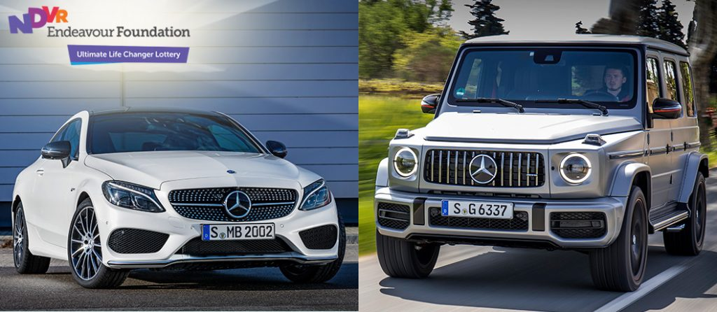 Mercedes-Benz C43 Coupe + AMG G63 + $107,364 gold.