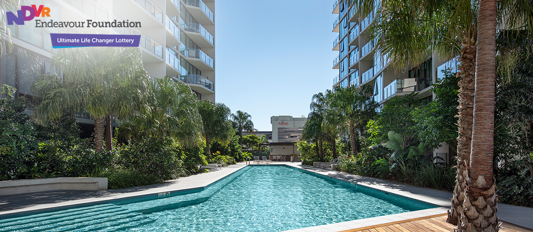 Endeavour Foundation Special Lifestyle Lottery - Brisbane apartment pool
