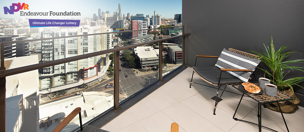 Endeavour Foundation Special Lifestyle Lottery - Brisbane apartment balcony