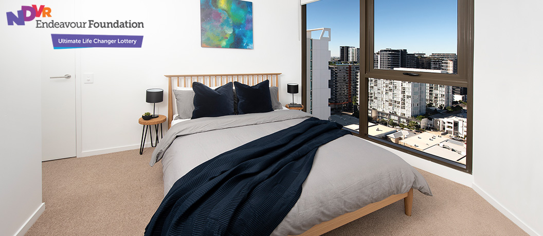 Endeavour Foundation Special Lifestyle Lottery - Brisbane apartment bedroom