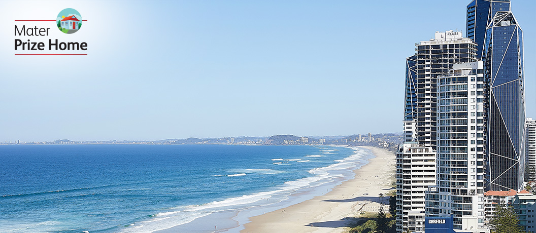 View of Gold Coast beaches.