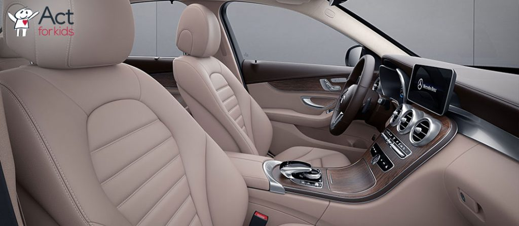 Act for Kids lottery - draw 90 - Mercedes-Benz GLC 300e SUV interior